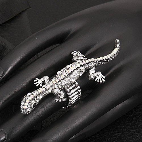 Anillo de Metal Anillo de Gecko Zircon Ajustable , multicolor , ajustable