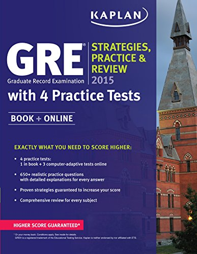 GRE 2015 Strategies, Practice, and Review with 4 Practice Tests: Book + Online (Kaplan Gre Exam)