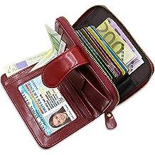 89c04eea766 Tarjeteros para Tarjetas de Credito RFID Bloqueo BTNEEU Cartera Mujer Piel  con Monedero
