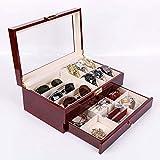 myun Hochwertige Holz Schmuck Aufbewahrungsbox, Schmuckschatulle, Gläser Aufbewahrungsbox, Uhr Aufbewahrungsbox, Europäischen Schmuck Ring Ohrringe Schmuck Aufbewahrungsbox