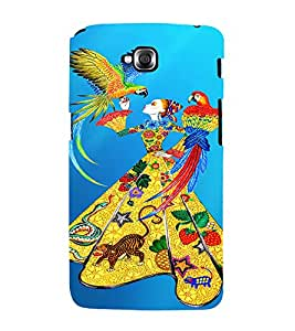 PrintVisa Fashion Parrot Girl Dress Design 3D Hard Polycarbonate Designer Back Case Cover for LG Gpro Lite