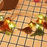 Cadena De Luz De Dinosaurio Led Cadena De Luz con BateríA Cadena De DecoracióN De JardíN De Navidad Luz De Cadena Adecuado para Vestido De Fiesta De Dormitorio 59.06In