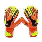 Arvin87Lyly Kinder Torwarthandschuhe Fußball Handschuhe mit Finger Schutz, Verdickt Latex Tragen Beständig Reduzieren Auswirkung Rutschfest Handschuhe.