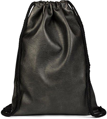 styleBREAKER bolsa de deporte de cuero artificial, mochila, bolsa de deporte, bolso, unisex 02012189, Color Gris oscuro antiguo