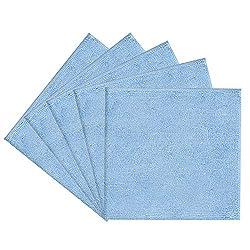 Filzada® 5X Premium Mikrofasertücher - 300 GSM in 40 x 40 cm - für Auto, Küche, Haushalt - Hochwertige Reinigungstücher/Putzlappen (blau)