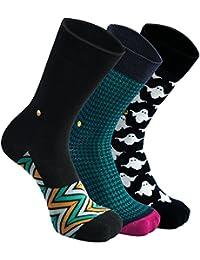 The Moja Club - Men's Luxury, Funky Socks - [Pack of 3] - SEE PACK OPTIONS