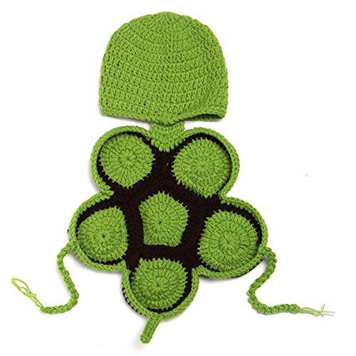 Grüne Weiche Kostüm - Little Sporter Grüne Füße Baby Karikatur Grüne Füße Crochet Knitting Kostuem Weiche entzueckende Kleider Foto Fotografie Props fuer Neugeborene Grün