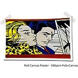 "Roy Lichtenstein man and women, Size: 16"" x 12"" (40cm x 30 cm Approx), Pop Art Warhol Canvas Poster Art Picture Print (CANVAS POSTER)"