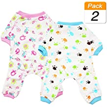 Scheppend Puppy Dog Pijamas Cozy Soft Jumpsuits Traje de Dormir para Mascotas Ropa para pequeños,