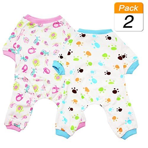 Scheppend Puppy Dog Pijamas Cozy Soft Jumpsuits Traje de Dormir para Mascotas...