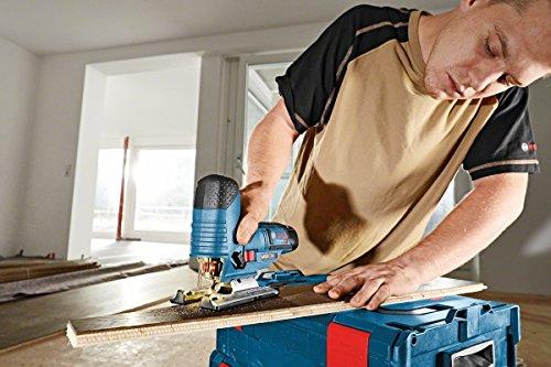 Bosch Professional GST 10,8 V-LI Akku-Stichsäge, Schrägschnitte 0-45 Grad, Schnitttiefe 70 mm Holz, 3 mm Alu/Metall, Solo Version, L-BOXX, 1 Stück, 06015A1002 - 3