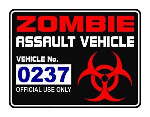 STICKERZZZ!!! Zombie Assault Fahrzeug Aufkleber/Aufkleber Lizenz Behindertenausweis Apokalypse USA Walking Dead, Set aus 3PVC Aufkleber (Zombie-apokalypse-aufkleber)