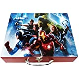 Art Box Action Heros Print (A) Solid Wooden Multi Purpose Utility Box For Keeping Essentials In Kids Room Or Presenting In Diwali Gifts With Choclates