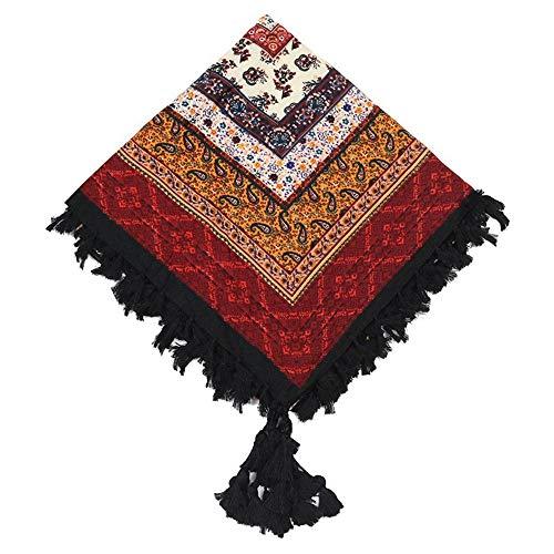 HNLYYL Sciarpa Quadrata Grande In Cotone A Scialle Sfrangiato Da Donna Caldo Con Decorazioni Invernali Quattro Stagio