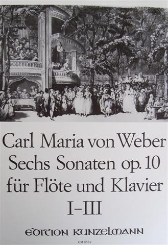 Sechs Sonaten op.10 für Flöte und Klavier I - III
