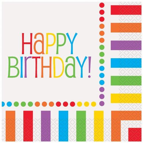 """py Birthday"""" Servietten Einheitsgröße mehrfarbig (Party-thema-ideen Für Erwachsene)"""
