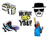 #6: Rolling Dice Stickers Set for Guitars,Laptops and Skateboard