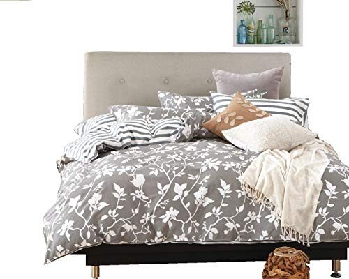 grünen Ranken Bettbezug Set: Bettbezug und Kissenhüllen, baumwolle, multi, King (3pc) -