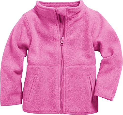 Schnizler Kinder-Jacke aus Fleece, atmungsaktives und hochwertiges Jäckchen mit Reißverschluss, Rosa (Pink 18), 74