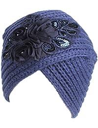 TININNA Donna Vintage Lavorato a Maglia Cappello da Turbante Berretto  Cuffia Beanie Hat Copricapo cap 0aaf19597558
