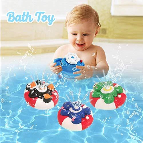greatdaily Baby Wasser Spray Badespielzeug| Elektronische Wasser Spray Spielzeug Drehen Mit Schwimm Brunnen Spielzeug Für Baby Kleinkind Infant (Floating-spray-brunnen)