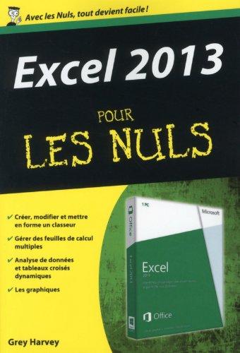 Excel 2013 Poche pour les Nuls par Greg HARVEY