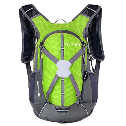 Imagen de isiyiner 28l ultralight unisex impermeable casual hombro  para transpirable moto bicicleta deportes al aire libre caballo viaje de marcha montaña con cubierta de la lluvia