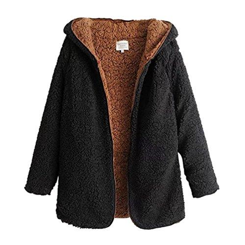 ZKOO Abrigo de Mujer Fleece Chaqueta con Capucha Espesar Suelto Prendas de  Abrigo Cardigan Parkas Calentar 33934d1ad548