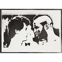Rocky Balboa Y Mister T Hecho A Mano - Handmade Street Art Poster