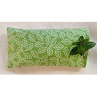 Minzkissen Batik, bei Kopfschmerzen, grün, Mint Kissen, Migräne, Minze, Geschenkidee, Gesundheitskissen, Für Sie, für Ihn,