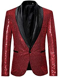 QUICKLYLY Trajes Hombre Chaquetas Charm Encanto Casual Un Botón Apto Fit  Suit Traje Blazer Abrigo Tops b964d62a0cf
