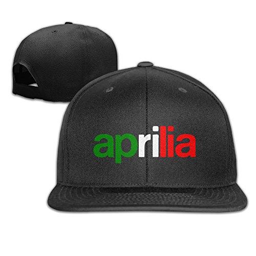 Feruch Caca Aprilia Logo and Italia Flag Snapback Hats/Gorra De Béisbol Hats/Peaked Black