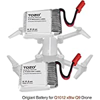 TOZO reg; Lithium battery for Q1012 X8tw Drone RC Quadcopter Remote Quadcopter.[ 2PCS ]