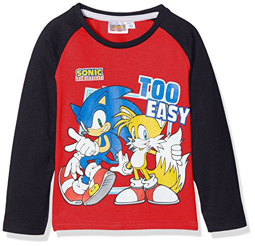 Image of Sonic Boy's Hedgedog T-Shirt, Red, 8 Years