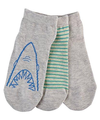 ESPRIT Jungen Füßlinge Shark Bite, 3er Pack, Mehrfarbig (Storm Grey 3820), 27-30