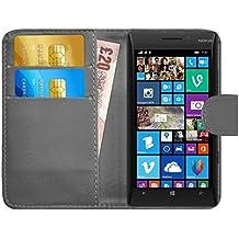 Funda Lumia 930, G-Shield Carcasa Libro de Cuero Con Tapa y Cartera [Ranuras para Tarjetas] [Cierre Magnético] Funda Billetera Case Cover Para Nokia Lumia 930 - Gris