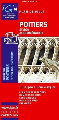 72320 Plan de Poitiers Sans Livret 1/12.500