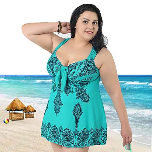 LHHX Mujer Conjunto De Bikini Tallas Grandes Sexy Moda Halter para Acolchado Bra Estampado Bohemio Sin...