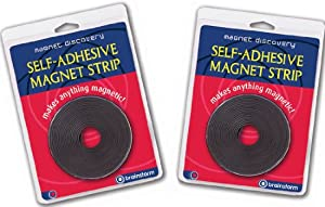 Magnetic Discovery B1599 - Cinta adhesiva magnética (2 rollos, 3 m) de Brainstorm Ltd