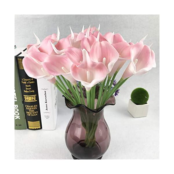 SKays Nuevo u0026 2019☺☺ Flores Artificiales, Flores Artificiales Artificial Cala plástico Ramo de la Boda decoración de…