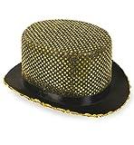 KarnevalsTeufel Paillettenzylinder Show Party Accessoire Kostümzubehör Requisite in Verschiedenen Farben erhältlich (Gold)