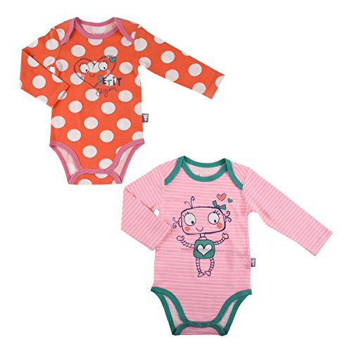 Lot de 2 bodies bébé fille manches longues Illico - Taille - 24 mois (92 cm)