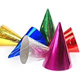 jakopabra Partyhütchen Holografie, glänzend 10cm (20 Stück)