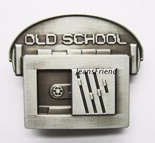 Napolo Cinturon de Hebilla Western Vintage Buckle Hombre Walkman Plata