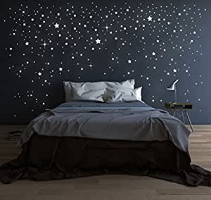 ilka parey wandtattoo welt riesen sternenhimmel 708 stk sterne wandtattoo fluoreszierend. Black Bedroom Furniture Sets. Home Design Ideas
