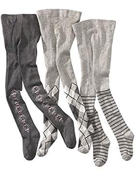 wellyou baby/kinder strumpfhosen für mädchen, babystrumpfhose/kinderstrumpfhose grau 3er set