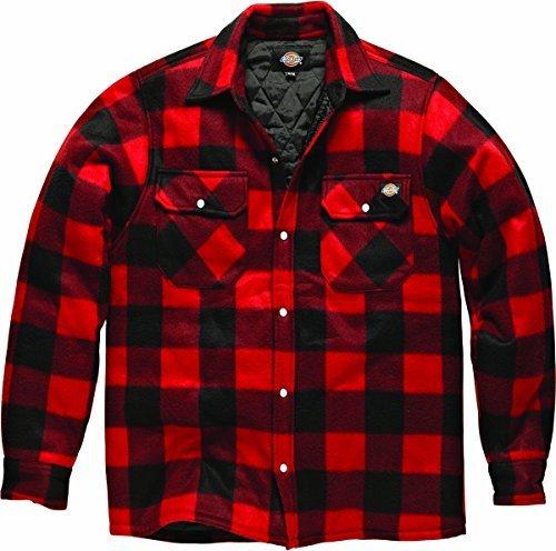 nuovo-da-uomo-portland-polar-in-pile-casual-design-elegante-adulti-top-red-medium