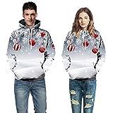 SEWORLD Weihnachten Vintage Christmas Zwei Personen Pullover Unisex Frauen Männer Liebhaber 3D Drucken Langarm Hoodie Sweatshirt Pullover Top(X1-mehrfarbig4,EU-48/CN-2XL/3XL)