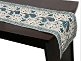 #4: Stole & Yarn Blue Cotton Table Runner - 19909