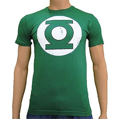 DC Comics - Green Lantern Vintage Logoshirt T-Shirt Bottle Green, S